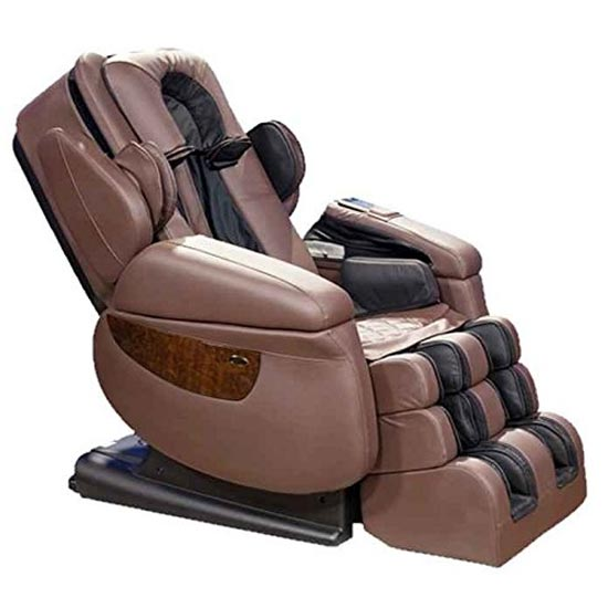 Luraco irobotics 7th gen brown massage chair for Popular massage chair